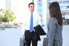 Business Team Outside Office Building Royalty Free Stock Images
