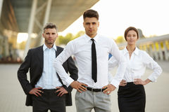 Business Team Outside Office. People Royalty Free Stock Photos