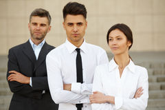 Business Team Outside Office. People. Stock Image