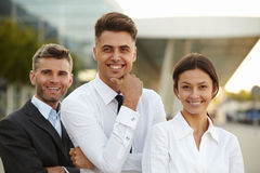 Business Team Outside Office. People. Stock Photography