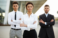 Business Team Outside Office. People Royalty Free Stock Photography