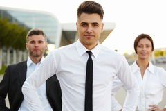 Business Team Outside Office. People. royalty free stock photography