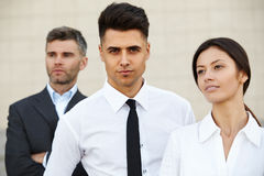 Business Team Outside Office. People. Royalty Free Stock Image