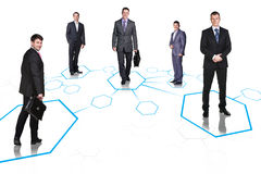 Business team over isolate background Royalty Free Stock Photos