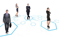 Business team over isolate background Royalty Free Stock Images