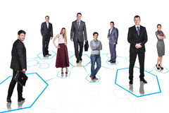 Business team over isolate background Stock Image