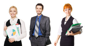 Business team over white background Royalty Free Stock Photo