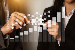 Business team partnership meeting concept. stock image