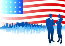 Business team on Patriotic American Royalty Free Stock Photography