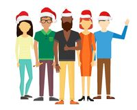 Business team people Christmas greeting card Royalty Free Stock Photo