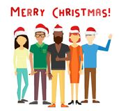 Business team people Christmas greeting card Stock Photo