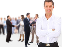 Business team people group crowd full Stock Photography