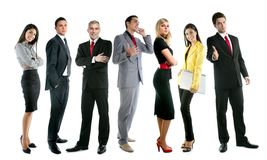 Business team people group crowd full length Royalty Free Stock Image
