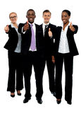 Business team people group gesturing thumbs up royalty free stock photo