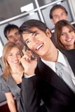 Business team on the phone Stock Photography
