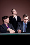 Business team and a phonecall. A business woman on the phone in a meeting Stock Photography
