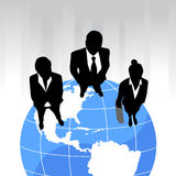 Business team on the planet Stock Image