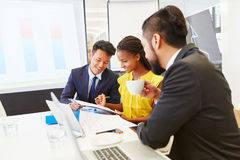 Business team planning in cooperation royalty free stock image