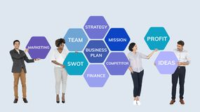 Business team planning and taking action royalty free stock photography