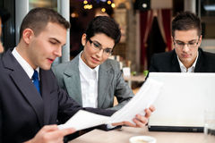 Business team planning work Royalty Free Stock Photo