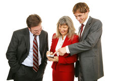 Business Team Plays Game Stock Photography