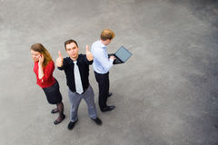 Business team is pleased with its success Royalty Free Stock Photo