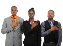 Business team pledging Stock Images
