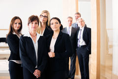 Business Team Posing For A Group Shot Royalty Free Stock Images