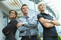 Business team posing outdoor Stock Photo