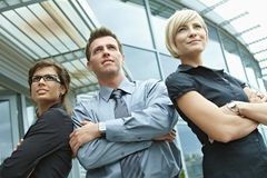 Business team posing outdoor Royalty Free Stock Image