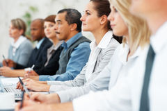 Business team at a presentation Royalty Free Stock Photos