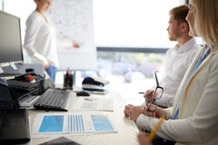 Business team at presentation in office Royalty Free Stock Photo