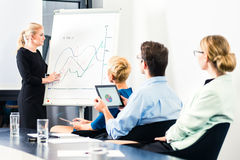 Business - team presentation on whiteboard Stock Photo