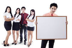 Business team presentation on copyspace Stock Photography
