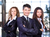 A business team with pretty leader Stock Photo