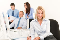 Business team pretty young businesswoman portrait Royalty Free Stock Images
