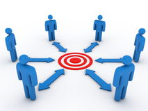 Business team and project target Royalty Free Stock Photos