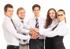 Business team putting Stock Photo