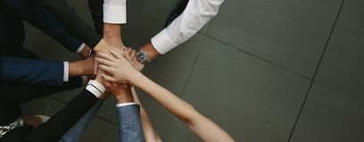 Free Business Team Putting Hands Together Stock Photos - 111560703