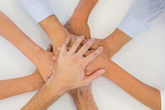 Business team putting their hands together Stock Photography