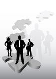 Business Team on Puzzle royalty free illustration