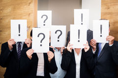 Business Team With Questions And Answers Royalty Free Stock Photography