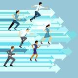 Business team racing forward Stock Photography