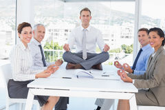 Business team relaxing Stock Images
