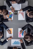 Business team with reports Royalty Free Stock Photography