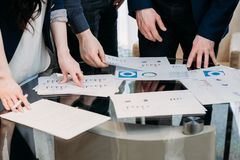 Business team graph data report papers information royalty free stock images
