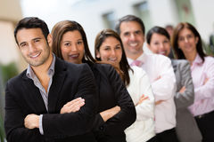 Business team in a row Stock Image