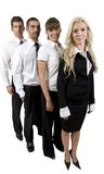 Business team in a row Royalty Free Stock Photo