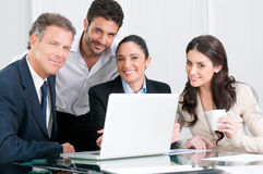 Business team satisfaction Stock Photos