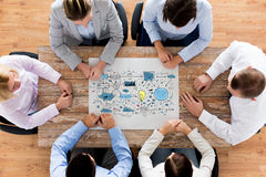 Business team with scheme meeting at office Stock Photos